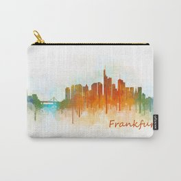 Frankfurt am Main, City Cityscape Skyline watercolor art v3 Carry-All Pouch