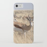 greg guillemin iPhone & iPod Cases featuring Springbok herd - Greg Katz by Artlala for MSF Doctors Without Borders