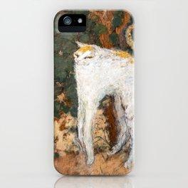 Pierre Bonnard - The White Cat / Le Chat Blanc iPhone Case