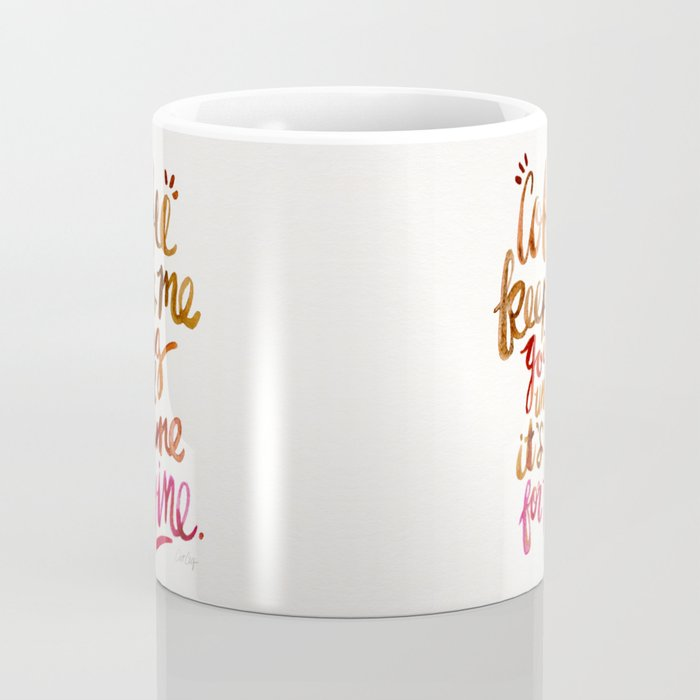 Coffee & Wine – Brown & Magenta Ombré Coffee Mug