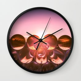 Industrial Sunset - Columbus, OH Wall Clock