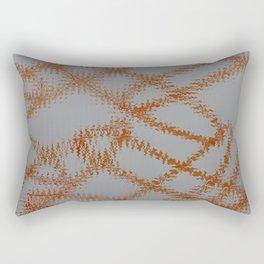 Orange Frizz Rectangular Pillow