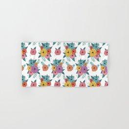 Gouache floral Hand & Bath Towel
