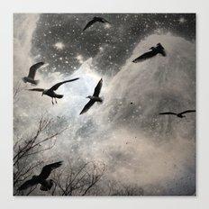 Celestial Seagulls Canvas Print