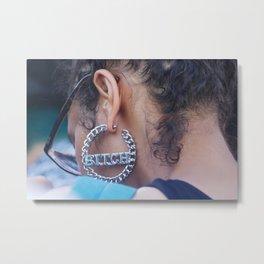 Earring Metal Print