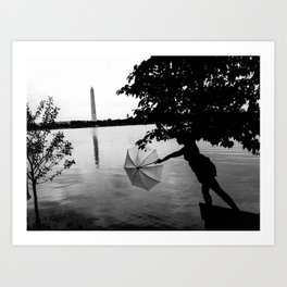 Washington Silhouette  Art Print