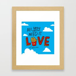 Love and French Fries Framed Art Print