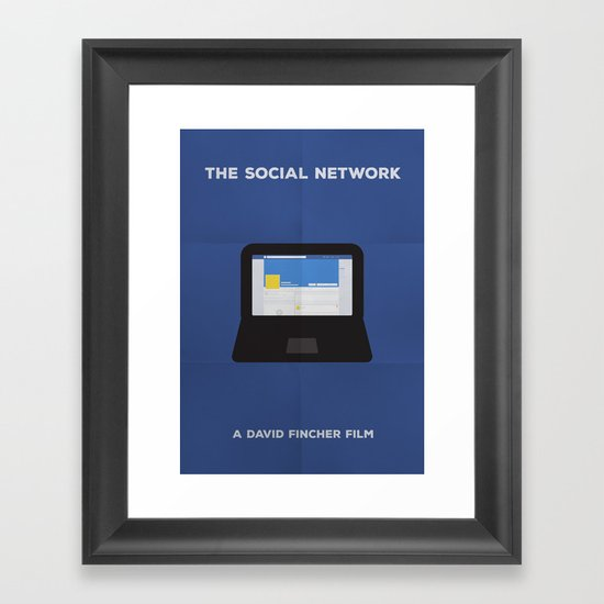 The Social Network Minimalist Framed Art Print