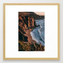 Sunset over Big Sur, California Framed Art Print