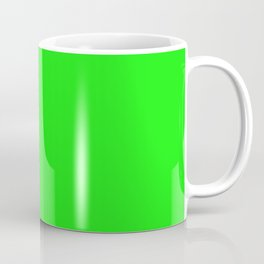 From The Crayon Box – Electric Lime - Bright Green - Neon Green Solid Color Coffee Mug