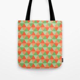 Retro Pattern Triangles Orange/Green Tote Bag