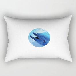 Keep the Ocean Blue_Dolphin Rectangular Pillow