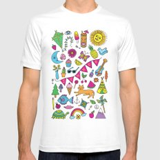 Summer Fun MEDIUM Mens Fitted Tee White
