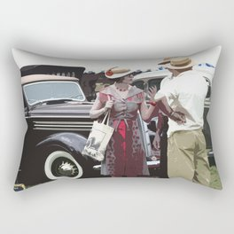 At The Races, 1937 Style Rectangular Pillow