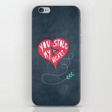 You Stole My Heart iPhone & iPod Skin