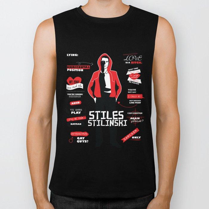 Stiles Stilinski Quotes Teen Wolf Biker Tank