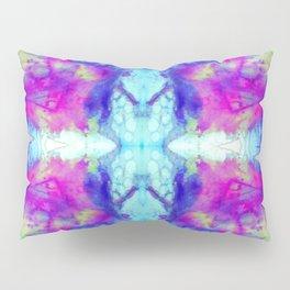 electric blue tie dye Pillow Sham