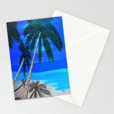 White sand beach  Stationery Cards