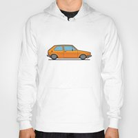 volkswagen Hoodies featuring #19 Volkswagen Golf by Brownjames Prints
