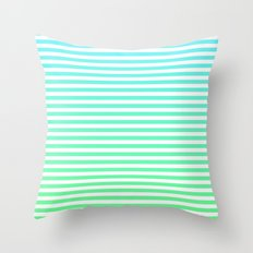 Beach Blanket - Aqua/Green Throw Pillow