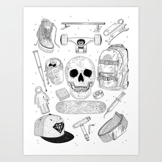 SK8 5tuff Art Print