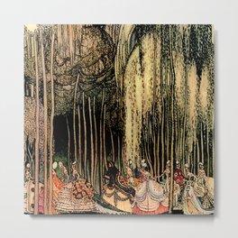 "Kay Nielsen Fairytale Illustration ""12 Dancing Princesses"" Metal Print"