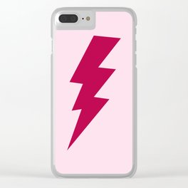 Red Lightning Bolt Clear iPhone Case