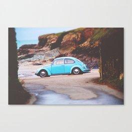 Vintage Blue Beetle Canvas Print