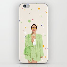 I cancel plans to spend time with me. iPhone Skin