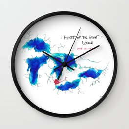 Heart of the Great Lakes Wall Clock