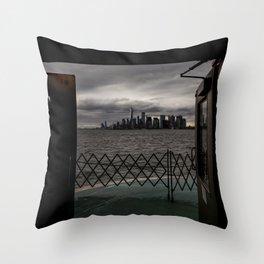 Doorway to NYC Throw Pillow