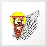 coyote Art Prints featuring Coyote by Renaissance Youth