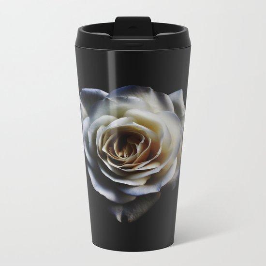 WHITE - ROSE - NATURE Metal Travel Mug