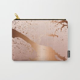 GRUNGE SPLASH | rose gold peach Carry-All Pouch