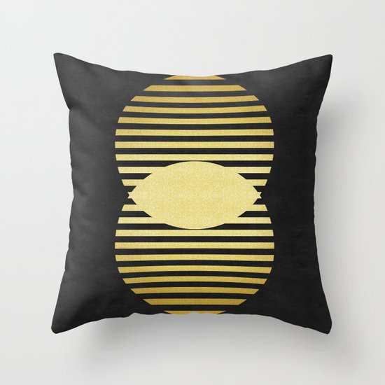 Decorative Pillow Forms : Golden forms IX Throw Pillow by Beautiful Arts Society6