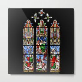 Cathedral Stained Glass 2 Metal Print