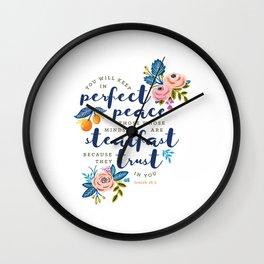 Perfect Peace Wall Clock