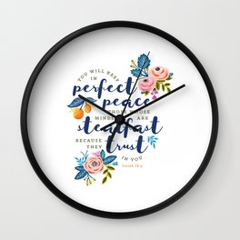Perfect Peace Wall Clock