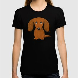 Longhaired Red Dachshund T-shirt