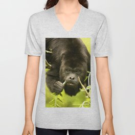 Howler monkey Unisex V-Neck
