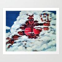 40,000 foot tall being. Art Print