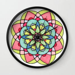 Peaceful Mandala Wall Clock