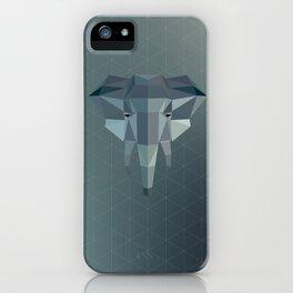 Geometric Elephant iPhone Case