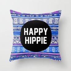 Happy hippie Throw Pillow