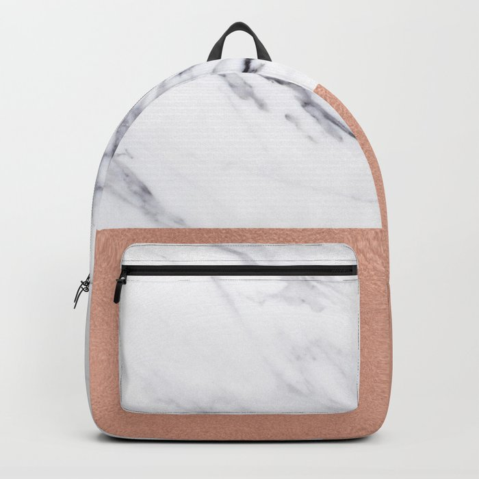 Marble Rose Gold Luxury iPhone Case and Throw Pillow Design Backpack