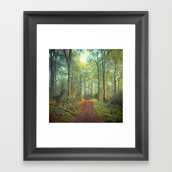 Forest Morning Walk Framed Art Print