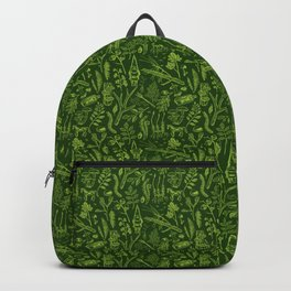 Woodland walk - dark acid green Backpack