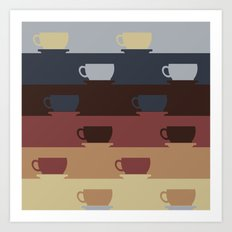 Coffee Cup Colors Art Print