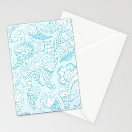 Ghostly Paisley Stationery Cards