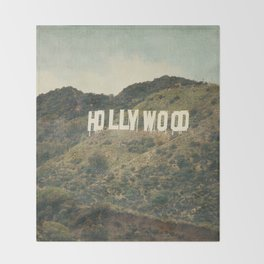 Hollywood (color) Throw Blanket